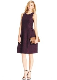 Calvin Klein Scuba Lace Flare Dress