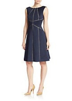 CALVIN KLEIN Seamed Detail A-Line Dress