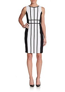 Calvin Klein Seamed Jersey Dress