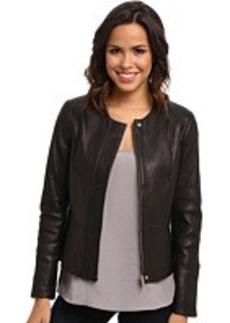 Calvin Klein Seamed Leather Jacket