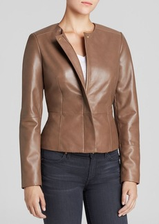 Calvin Klein Seamed Leather Jacket