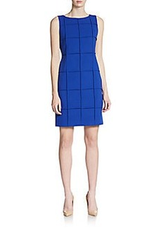 Calvin Klein Seamed Windowpane Dress