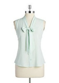 CALVIN KLEIN Self-Tie Blouse