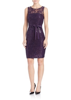 CALVIN KLEIN Sequined Lace Dress