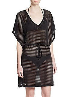 Calvin Klein Shadow Striped Coverup