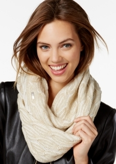 Calvin Klein Shaker Stitch Cable Infinity Scarf