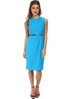 Calvin Klein Sheath Dress Belted at Waist