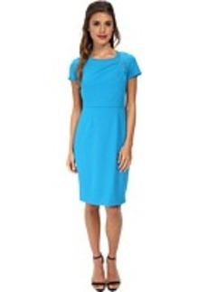 Calvin Klein Sheath Dress w/ Draped Neck