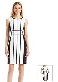 Calvin Klein Sheath Grid Dress