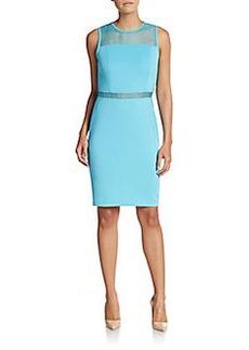 Calvin Klein Sheer-Panel Sheath Dress