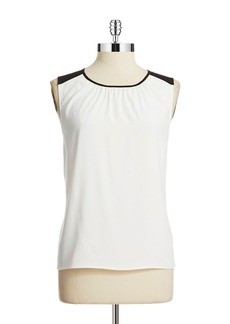 CALVIN KLEIN Shirred Sleeveless Blouse