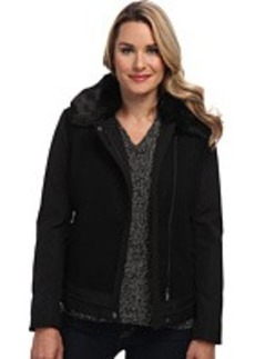 Calvin Klein Short Fur Collar Jacket