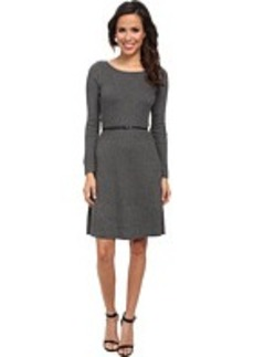 Calvin Klein Short Sleeve Belted Sweater Dress