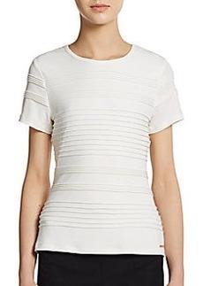 Calvin Klein Short-Sleeve Pintuck Top