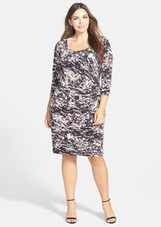 Calvin Klein Side Ruched Matte Jersey Dress (Plus Size)