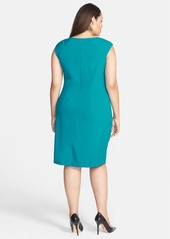 Calvin Klein Side Ruched Sheath Dress (Plus Size)