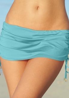 Calvin Klein Side-Tie Ruched Swim Skirt Women's Swimsuit
