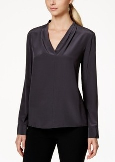 Calvin Klein Silk Pleated Blouse
