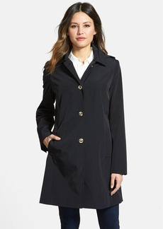Calvin Klein Single Breasted Coat with Detachable Hood