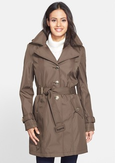 Calvin Klein Single Breasted Trench Coat with Detachable Hood