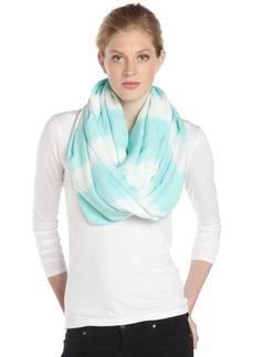 Calvin Klein sky blue and white dyed stripe infinity scarf