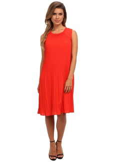 Calvin Klein S/L Pleated Dress