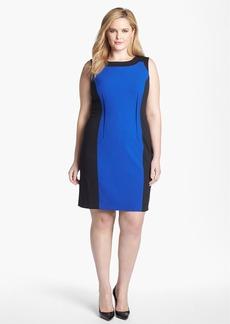 Calvin Klein Sleeveless Colorblock Dress (Plus Size)