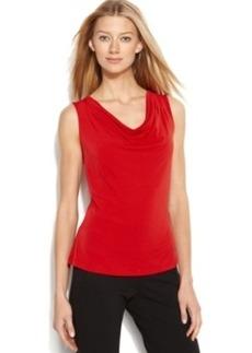 Calvin Klein Sleeveless Cowl-Neck Top