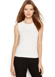 Calvin Klein Sleeveless Crew-Neck Shell