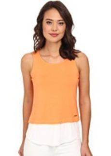 Calvin Klein Sleeveless Double Layer Top
