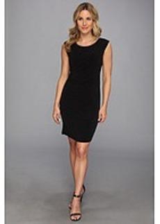 Calvin Klein Sleeveless Double Layer Wrap Dress