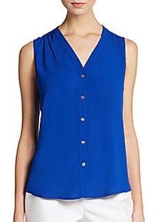 Calvin Klein Sleeveless Jersey Blouse