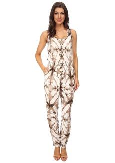 Calvin Klein Sleeveless Print Tapered Bottom Jumpsuits
