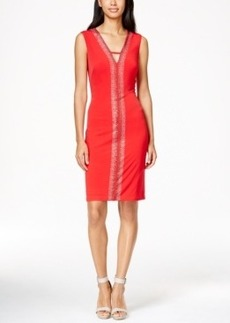 Calvin Klein Sleeveless Rhinestone Dress