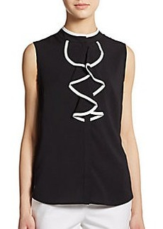 Calvin Klein Sleeveless Ruffle-Front Top
