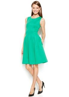 Calvin Klein Sleeveless Scuba Fit & Flare Dress