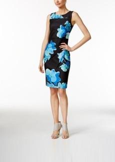 Calvin Klein Sleeveless Seamed Bodice Sheath Dress