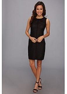 Calvin Klein Sleeveless Solid Stripe Dress
