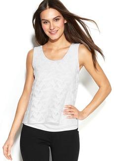 Calvin Klein Sleeveless Textured Chiffon Top