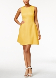 Calvin Klein Sleeveless Textured Fit & Flare Dress
