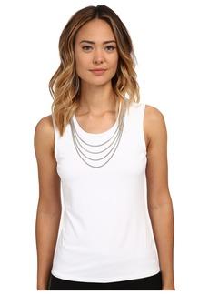 Calvin Klein Sleeveless Top w/ Chain Necklace