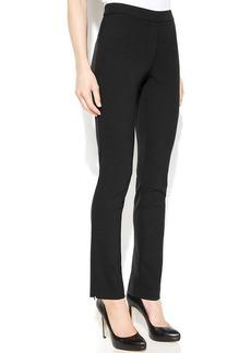 Calvin Klein Slim-Leg Ankle-Zip Pants