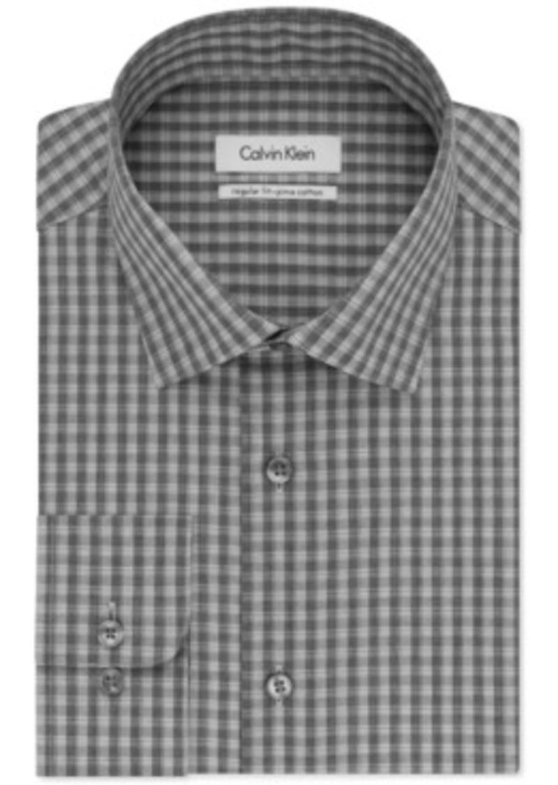 Calvin Klein Calvin Klein Smokey Grey Check Dress Shirt