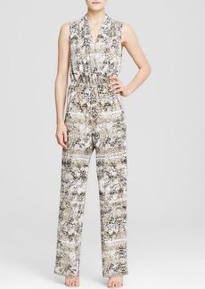 Calvin Klein Snake Print Chain Belt Jumpsuit