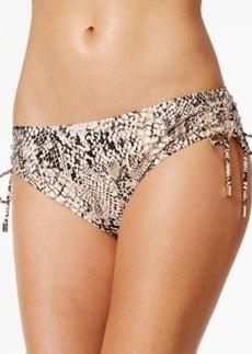 Calvin Klein Snake-Print Side-Tie Swim Bottoms Women's Swimsuit