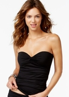 Calvin Klein Solid Bandeau Tankini Top Women's Swimsuit