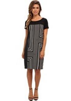 Calvin Klein Solid Dress w/ Studs