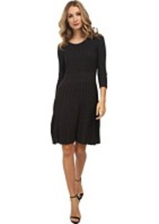 Calvin Klein Solid Fit & Flare Sweater Dress