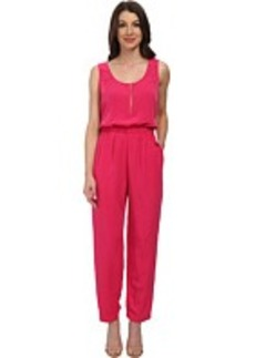 Calvin Klein Solid Pebble Crepe Jumpsuit