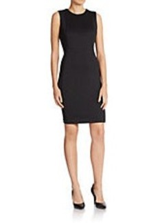 CALVIN KLEIN Solid Scuba Shift Dress